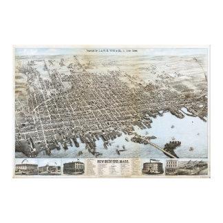 City of New Bedford Massachusetts (1876) Canvas Print