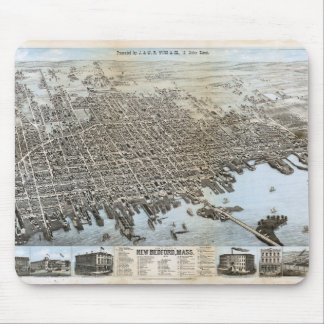 City of New Bedford Massachusetts (1876) Mouse Pad