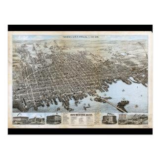 City of New Bedford Massachusetts (1876) Postcard