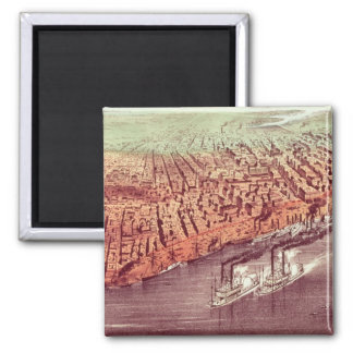 City of New Orleans 2 Inch Square Magnet