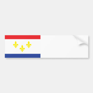 City of New Orleans flag Bumper Stickers