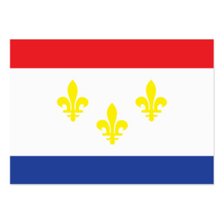 City of New Orleans flag Large Business Cards (Pack Of 100)