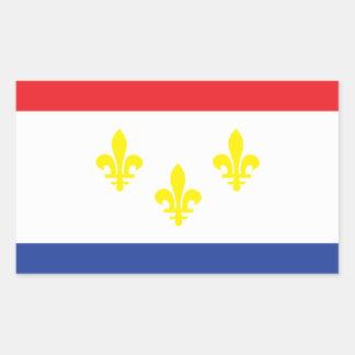 City of New Orleans flag Rectangular Sticker