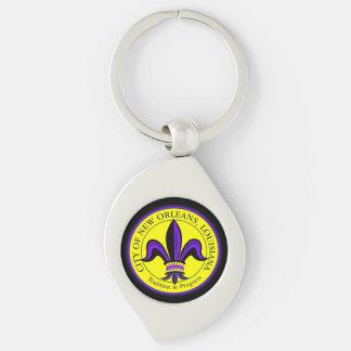 City of New Orleans, LA Fleur de Lis Keychain