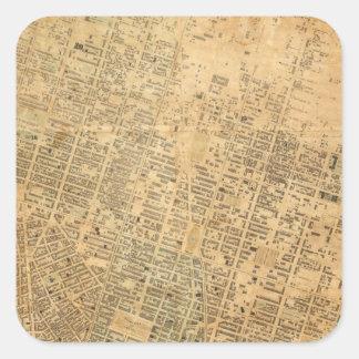 City of New York 2 Square Sticker