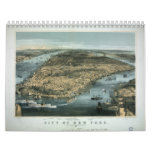City of New York in 1856 by Charles Parsons Wall Calendar