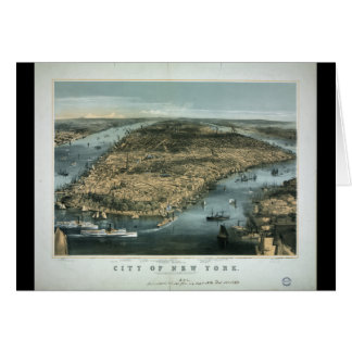 City of New York in 1856 by Charles Parsons Card