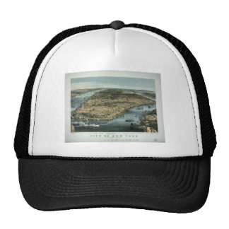City of New York in 1856 by Charles Parsons Mesh Hat