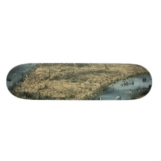 City of New York in 1856 by Charles Parsons Skateboard Decks