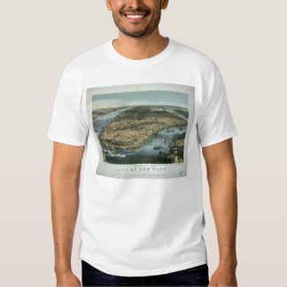 City of New York in 1856 by Charles Parsons T-shirt