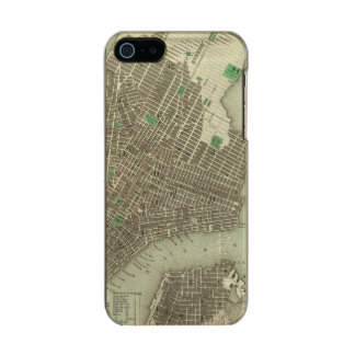 City Of New York Metallic Phone Case For iPhone SE/5/5s