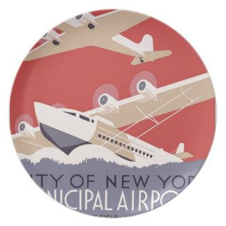City of New York municipal airports No. 1 Plate
