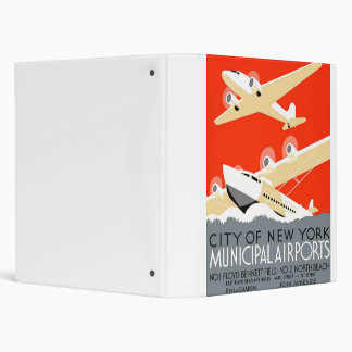 City of New York Municipal Airports Vintage Poster Binder