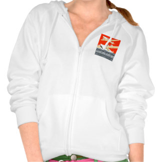 City of New York Municipal Airports Vintage Poster Hooded Sweatshirts