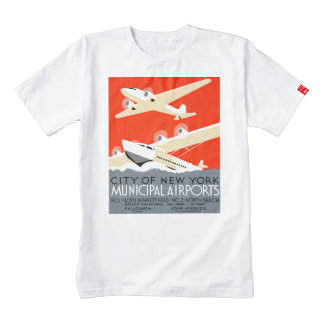 City of New York Municipal Airports Vintage Poster Zazzle HEART T-Shirt
