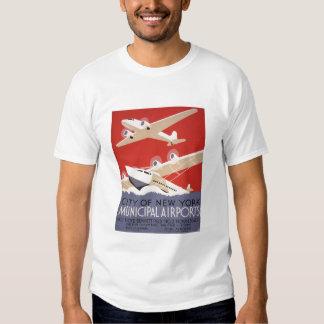 City of New York Municipal Airports - WPA Poster T Shirt