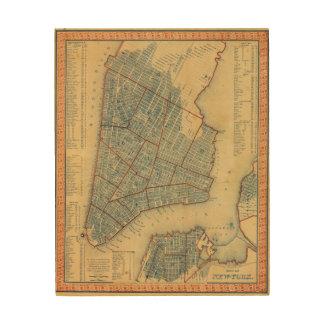 City of NewYork Wood Print