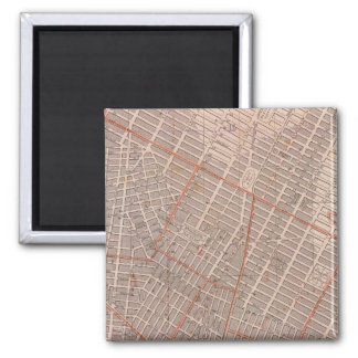 City of NY Atlas Map 2 Inch Square Magnet