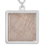 City of NY Atlas Map Personalized Necklace