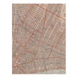 City of NY Atlas Map Postcard