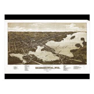 City of Oconomowoc Waukesha Co. Wisconsin (1885) Postcard