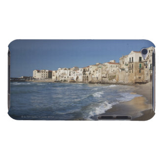 City of old buildings on beach iPod touch cover