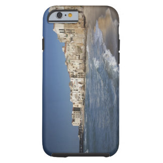 City of old buildings on beach tough iPhone 6 case