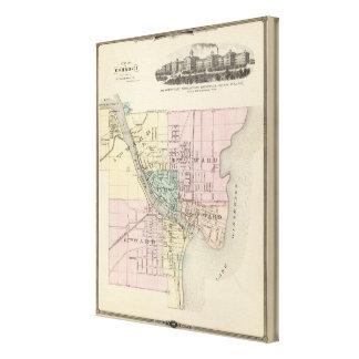 City of Oshkosh, county seat of Winnebago Co Canvas Print