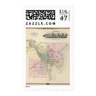 City of Oshkosh, county seat of Winnebago Co Postage