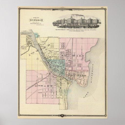 City of Oshkosh, county seat of Winnebago Co Poster