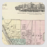 City of Oshkosh, county seat of Winnebago Co Square Sticker