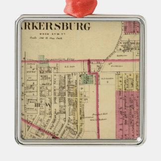 City of Parkersburg, West Virginia Square Metal Christmas Ornament