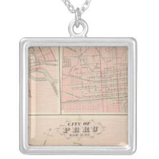 City of Peru, Miami Co Silver Plated Necklace