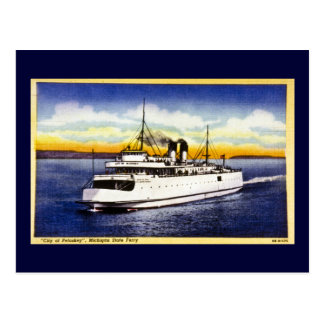 City of Petoskey Michigan State Ferry Postcard