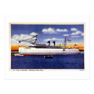 City of Petoskey Michigan State Ferry Postcards