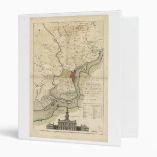 City of Philadelphia Pennsylvania Map (1777) Vinyl Binder