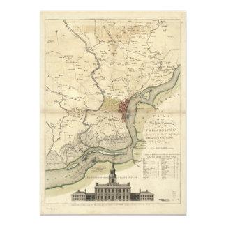 City of Philadelphia Pennsylvania Map (1777) Card