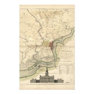 City of Philadelphia Pennsylvania Map (1777) Stationery