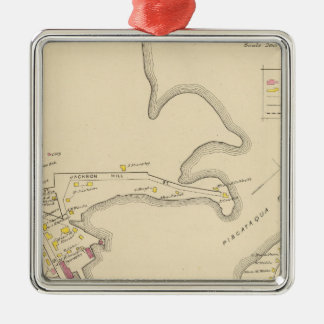 City of Portsmouth 2 Square Metal Christmas Ornament
