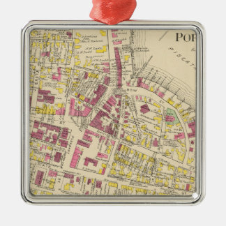 City of Portsmouth 3 Square Metal Christmas Ornament