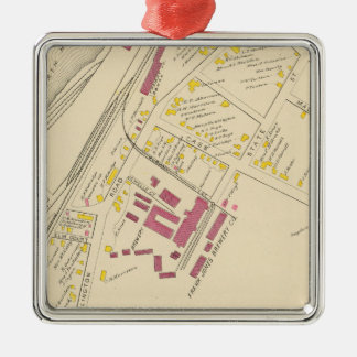 City of Portsmouth 4 Square Metal Christmas Ornament