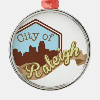 City Of Raleigh Metal Ornament