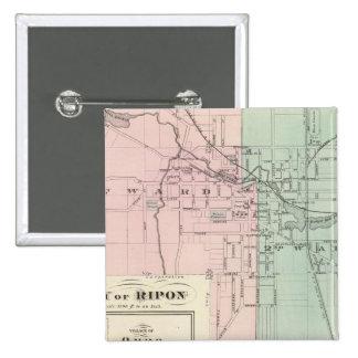 City of Ripon, Village of Omro, Dartford Pinback Button