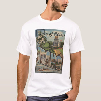 City of Rocks, Idaho - Large Letter Scenes T-Shirt
