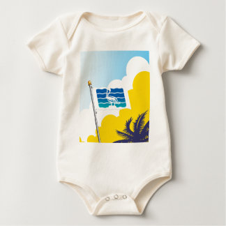 City of Saint Petersburg Florida Flag Baby Bodysuit
