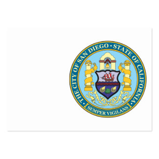 City of San Diego seal Large Business Cards (Pack Of 100)