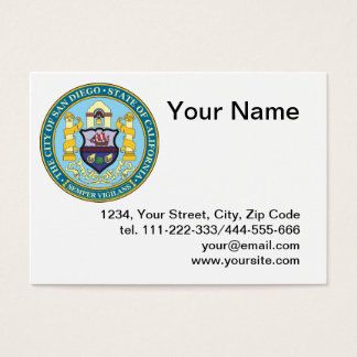 City of San Diego seal Business Card
