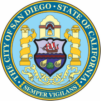 City of San Diego seal Statuette