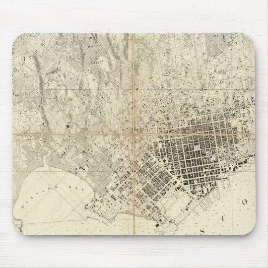 City Of San Francisco And Its Vicinity, California Mouse Pad