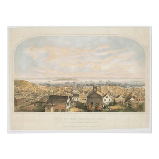 City of San Francisco, CA. 1852 (1065A) Poster